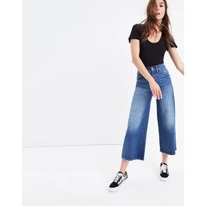 Madewell Wide Leg Crop Jeans In Bainbridge Wash 32